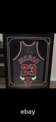 MANCAVE DREAM Michael Jordan M&N Autographed Jersey UDA Professionally Framed