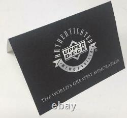 MICHAEL JORDAN Autographed Bulls 2009 HOF Authentic Black Jersey UDA LE 123