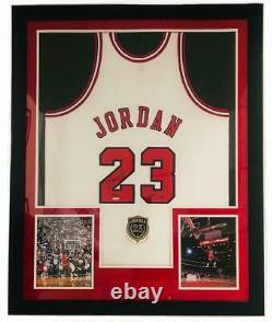 MICHAEL JORDAN Autographed Bulls 2009 HOF Authentic White Jersey UDA LE 68/123