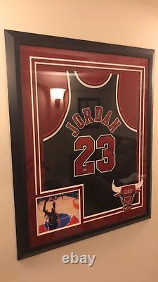 MICHAEL JORDAN Autographed Chicago Bulls Black Authentic Nike Jersey Framed UDA