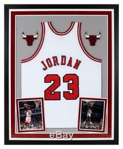 MICHAEL JORDAN Autographed Chicago Bulls Home Authentic Framed Jersey UDA