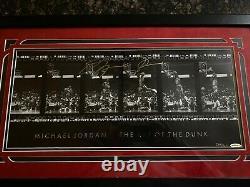 MICHAEL JORDAN Autographed GOLD Art of the Dunk Framed Photograph UDA LE 323
