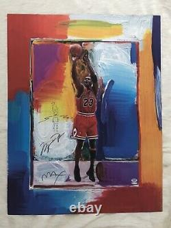 MICHAEL JORDAN Lithograph PETER MAX with Remarque! UDA / PSA-DNA #110/123