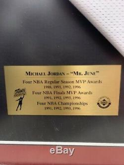 MICHAEL JORDAN Mr June Autographed 171/423 Rare home Jersey Framed 100% UDA