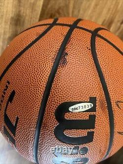MICHAEL JORDAN Signed Wilson Basketball Autographed Upper Deck Authentic UDA