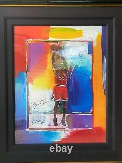 MICHAEL JORDAN UDA SIGNEDLAST SHOT Lithograph PETER MAX with Remarque 25/123