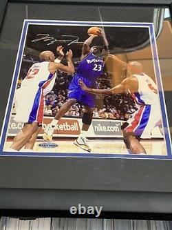 MICHAEL JORDAN signed 8x10 auto RARE Framed Photo COA UDA Upper Deck Wizards