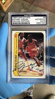 Michael Jordan 1986 Fleer Signed Auto Uda Psa Rookie Sticker 8 Autograph Rc