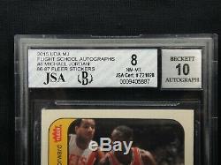 Michael Jordan 1986 Fleer Sticker Signed Upper Deck Uda Rookie Autograph Beckett