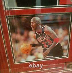 Michael Jordan 1997-1998 Signed Chicago Bulls Black Jersey Framed UDA COA