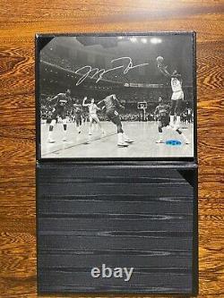Michael Jordan Autograph UDA UNC North Carolina Winning Shot Championship 8x10