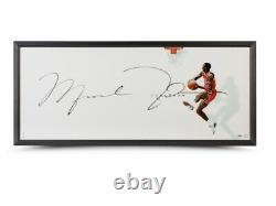 Michael Jordan Autographed 20X46 Framed Photo The Show II Chicago Bulls UDA