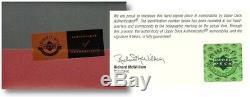 Michael Jordan Autographed 40X60 Framed Breaking Through Photo Bulls /123 UDA