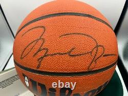 Michael Jordan Autographed Basketball UDA Wilson HOF Auto Signed Upper Deck