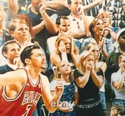 Michael Jordan Autographed Bulls Last Shot 28x42 Photo Upper Deck UDA COA Framed