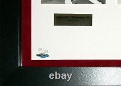 Michael Jordan Autographed Career Photo Set #d /123 Upper Deck Uda Coa Framed