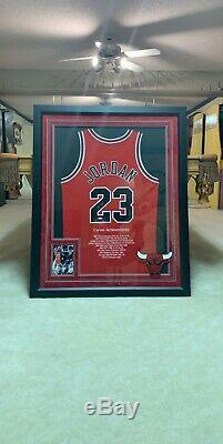 Michael Jordan Autographed Chicago Bulls jersey UDA LE 112/123 Upper Deck