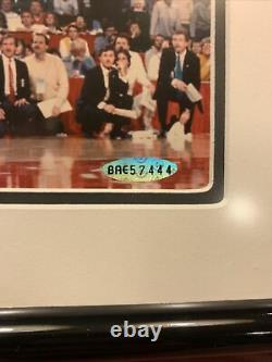Michael Jordan Autographed Gatorade Slam Dunk 8x10 Upper Deck COA UDA (FRAMED)