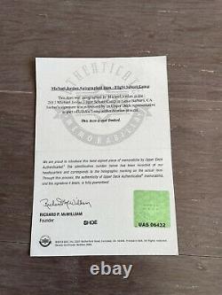 Michael Jordan Autographed Jordan 11s Size13 UDA Authenticated UpperDeck Signed