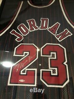 Michael Jordan Autographed Signed UDA Chicago Bulls 1997 Black Pinstripe Jersey