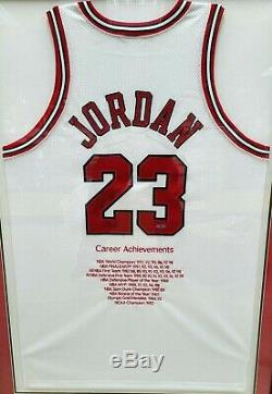 Michael Jordan Autographed Signed White Chicago Bulls Nike Jersey UDA Auto /123