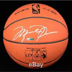 Michael Jordan Bulls Autographed in Silver Official NBA Game Basketball UDA