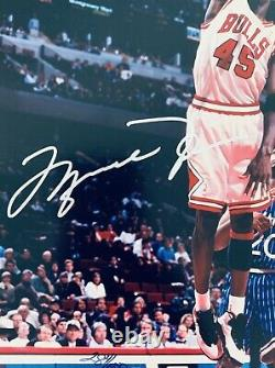 Michael Jordan Chicago Bulls 1995 1st Game Back In Chicago Signed 8x10 Photo Uda