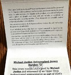 Michael Jordan Chicago Bulls 1998 Finals Signed Auto Jersey Numbers UDA FRAMED