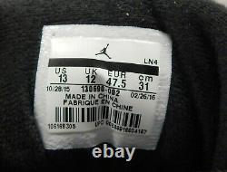 Michael Jordan Chicago Bulls Signed Air Jordan 12's Flu Game Shoes UDA Authentic
