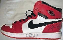Michael Jordan Dual Signed Autographed Air Jordan 1's Shoes Size 13 UDA & JSA