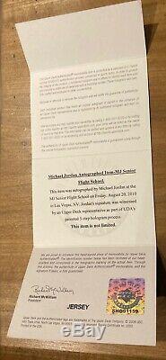 Michael Jordan Framed Jersey UDA Autographed Signed Chicago Bulls Upperdeck