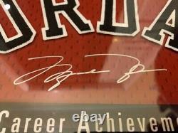 Michael Jordan Framed UDA Upperdeck Career Achievements Beautiful Piece Rare
