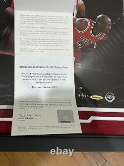 Michael Jordan Hall of Fame Signed Auto Panoramic Photo Upper Deck UDA Limited