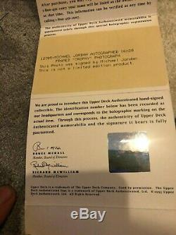Michael Jordan Kobe Bryant UDA Upper Deck Signed (3) 16x20 LE Photos Framed 1/1