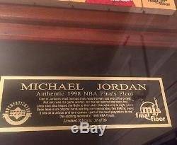 Michael Jordan LE 17/23 Final Shot Game Used Floor Piece-UDA
