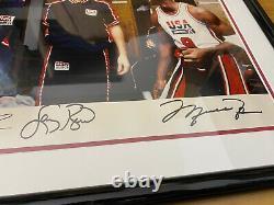 Michael Jordan Larry Bird Uda Signed Magic Johnson Fod Signed 92 Dream Team