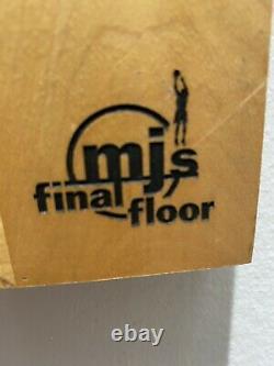 Michael Jordan Last Dance FINAL FLOOR SIGNED UDA Extremely Rare! 44/98