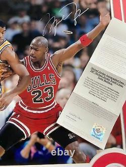 Michael Jordan Magic Johnson DUAL signed autographed photo framed UDA COA