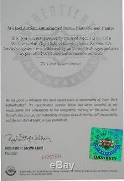 Michael Jordan Muhammad Ali Autographed 45X27 Print Framed UDA Camp Steiner
