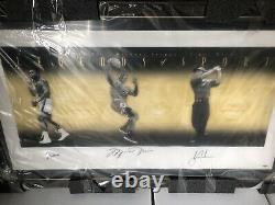 Michael Jordan Muhammed Ali Tiger Woods signed uda upper deck display ltd to 500