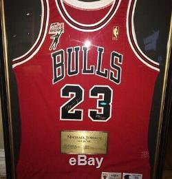 Michael Jordan Nba 50 Gold Logo Mr June Upperdeck Auto Signed Jersey Bulls Uda