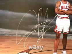 Michael Jordan Pippen Rodman Triple Signed Bulls Photo Framed COA UDA #D/720