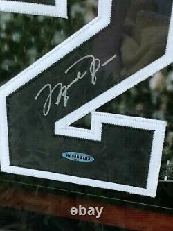 Michael Jordan Scottie Pippen Signed 40X22 Framed Jersey Numbers Bulls #/72 UDA