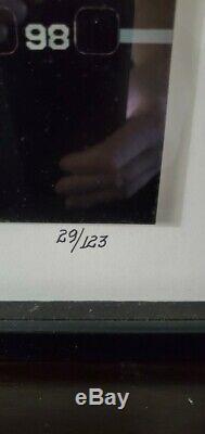 Michael Jordan Signed 16x41 Framed Championship Film Strip Photo 29/123 UDA COA