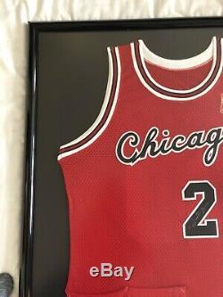 Michael Jordan Signed 1984-85 Rookie Jersey Gold Logo LE 39/50 UDA Framed