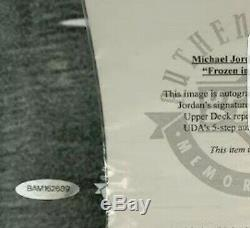 Michael Jordan Signed 30x40 Frozen In Time UDA Upper Deck
