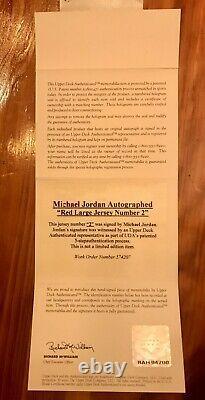Michael Jordan Signed Autograph Jersey Number Bulls Wizards 23 UDA Upper Deck