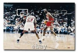 Michael Jordan Signed Autographed 24X16 Photo Driven from Within Bulls /123 UDA