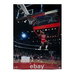 Michael Jordan Signed Autographed 30X40 Jumbo Photo 88 Slam Dunk Scoreboard UDA