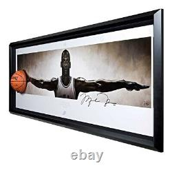 Michael Jordan Signed Autographed 31X90 Wings Photo Breaking Through Bulls UDA